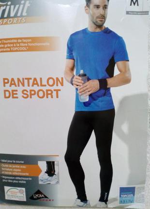 Мужские тренировочные тайтсы, спортивные штаны леггинсы crivit германия