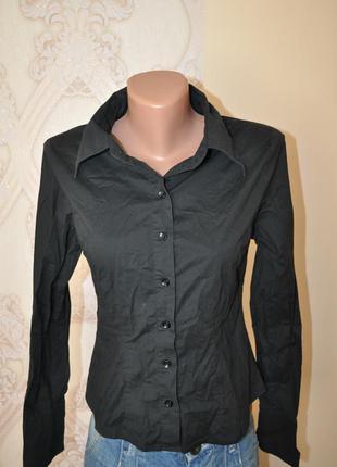 Рубашка классическая черная