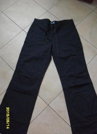Синие фирменные штаны/брюки/спортивный стиль/широкие и лёгкие на лето