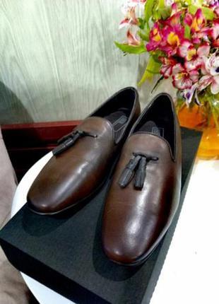 Туфли лоферы с натуральной кожи (asos) 41р.