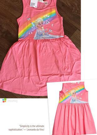 Сарафан, платье h&m france nice disney эльза frozen из 100% хлопка на девочку 122-128см1