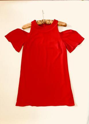 Алое платье zara