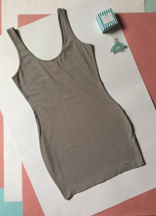 Платье мини серое короткое платье new look