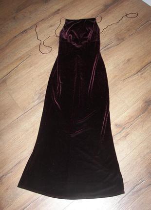 Вечернее бархатное платье  principles petite 38р