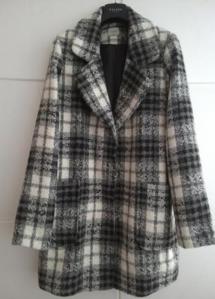 Пальто в широкую клетку george в стиле оверсайз бойфренд