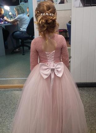 Шикарное выпускное платье.4 фото