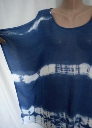 Распродажа! стильная натуральная шифоновая пляжная блуза, туника   №2bp