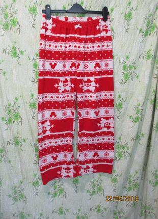 Теплые флисовые домашние  штаны/пижама  48-50 размер
