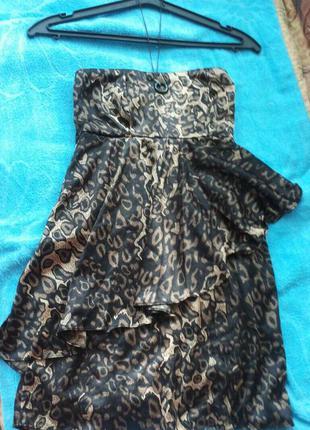 Коктельное атласное платье