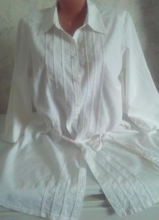 Рубашка лен длинная marks&spencer
