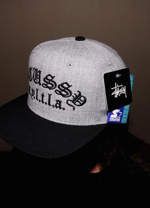 Кепка stussy - 5 panel snapback (limited edition) grey