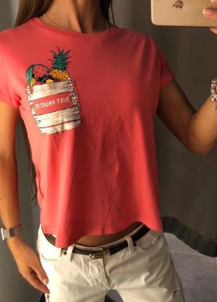Кроп топ amisu укороченная футболка xs-xl