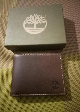 Мужской кошелек портмоне timberland hunter leather trifold wallet