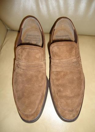 Кожаные мужские туфли лоферы hush puppies р. 41 - 41,5