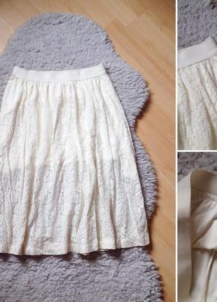 Кружевная юбка-миди от h&m