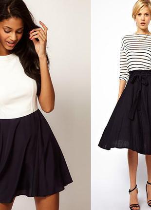 Нарядная атласная юбка клёш распродажа!!!1+1=3