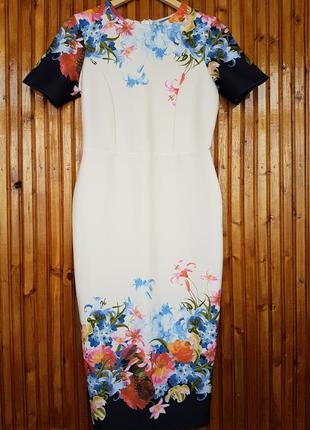 Красивое платье миди от asos в цветочный принт