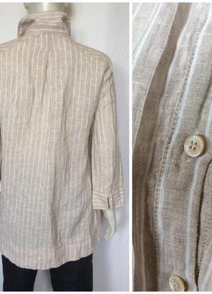 Льняная длинная рубашка туника2