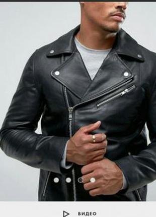 Кожаная куртка (косуха) asos. 52р.