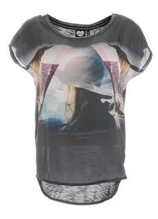 Классная комбинированная футболка от  catwalk junkie