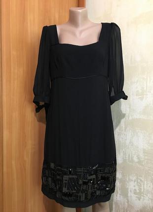 Роскошное шёлковое платье с камнями!!