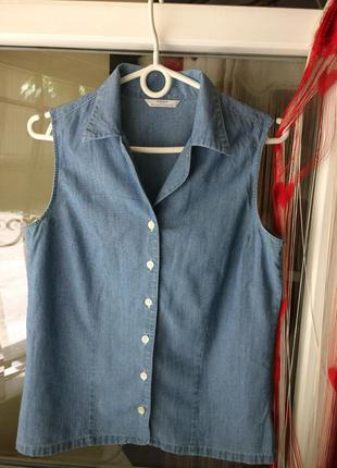 Джинсова блуза рубашка, котон
