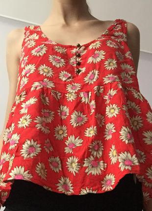 Красный топ, майка, блуза