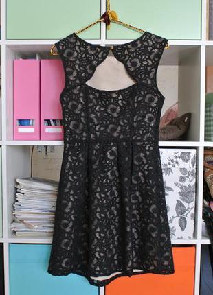 Прекрасное платье на выпускной бал, органза, кремовый подклад, oasis, s , 8 размер