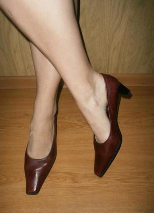Кожаные туфли /25 см/технология antishokk/