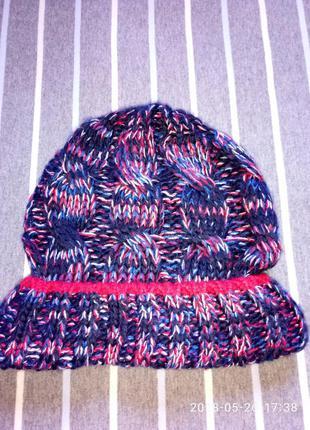 Нова шапка без бирки деми,  вязаная,  универсальный размер