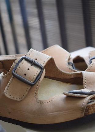 Кожаные ортопедические шлепанцы сандали босоножки р.42 27-28 см