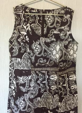 Очень красивое платье-сарафан льняное