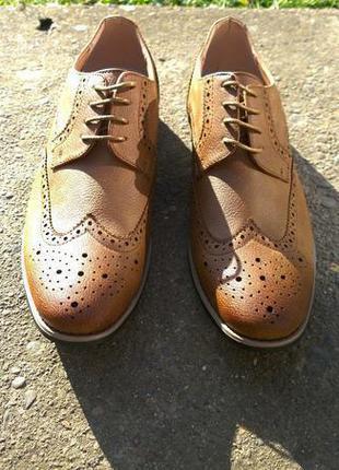 Новые мужские ботинки броги оксфорды туфли из европы! різні розміра..знижка 25%