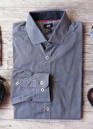 Стильная мужская рубашка h&m