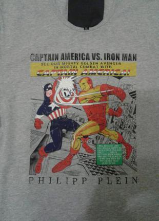 Модная молодежная футболка с принтом оригинал philipp plein