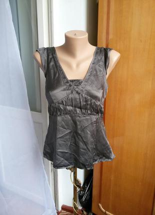 Шелковая блуза / топ gap 100% натуральный шелк