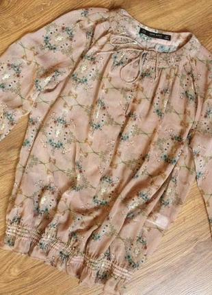 Цветочная блуза/блуза с цветами/в цветы zara