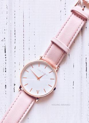 ♡ the  fifth часы нежно-розового цвета ♡