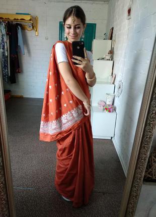 Сари, индийское платье, платье в пол, одежда из индии, индийский наряд, индийская одежда
