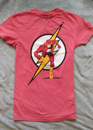 Мужская футболка dc (flash, флеш)