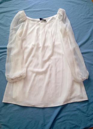 Нежное, легкое белое платье 12р