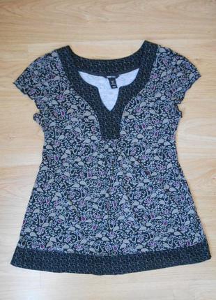 Туника блуза блузка h&m мама для беременных хлопковая хлопок размер м - l