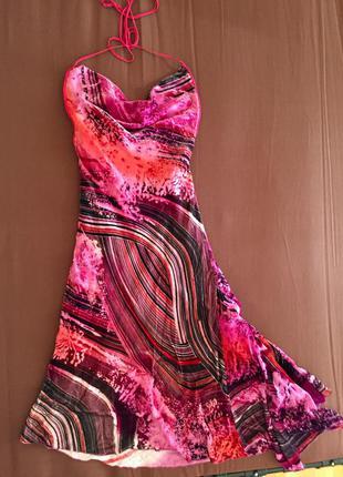 Платье нарядное велюр+шёлк