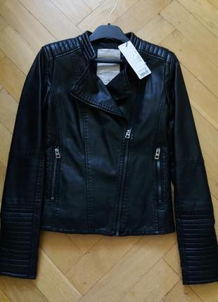 Куртка кожаная фирмы oodji /косуха