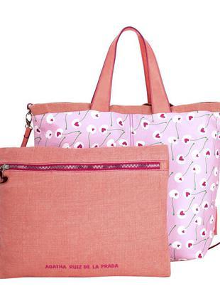 Новая. сумка+косметичка/кроссбоди/шоппер agatha ruiz de la prada, испания.