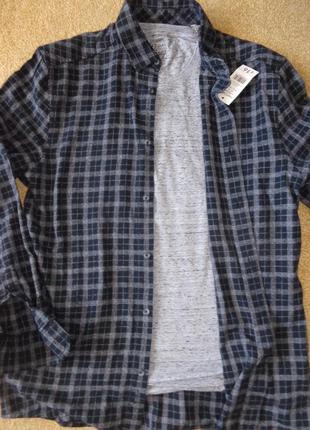 Комплект george : рубашка + футболка - size m
