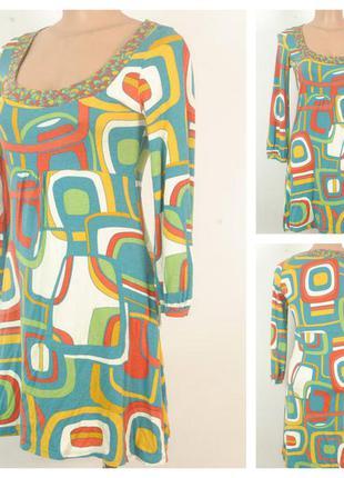 Трикотажное платье sisley  размер 44