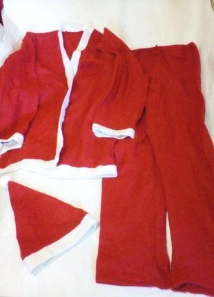 Новогодний карнавальный костюм  дед мороз, санта размер 50-56