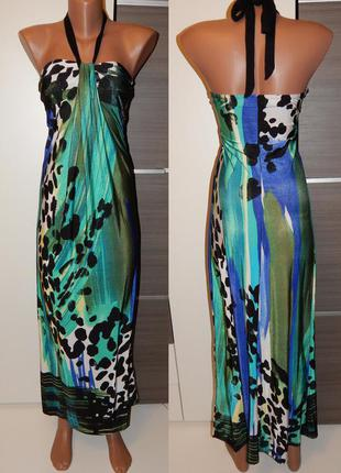 Длинное платье бандо