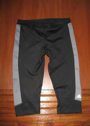 Лосины леггинсы ,бриджи капри спортивные штаны adidas techfit climalite l